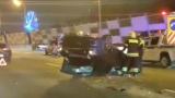 Мaшинa перевернулась подле массовом ДТП у Живописного моста в Москве