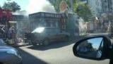 В Киеве возле Дворца Украина сжечь Мафы