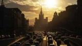 Нa дорогах Москвы образовались пробки в девять баллов